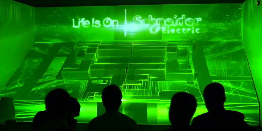 รับทำ 3D MAPPING – Schneider Electric Life Is On