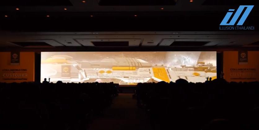 รับทำ วีดีโอ 3 ดี แมพปิ้ง 3D MAPPING ธนาคารกรุงศรี 7