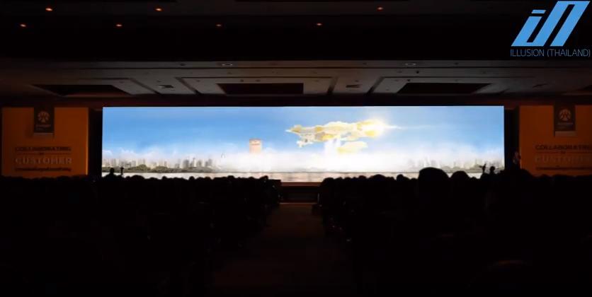 รับทำ วีดีโอ 3 ดี แมพปิ้ง 3D MAPPING ธนาคารกรุงศรี 8