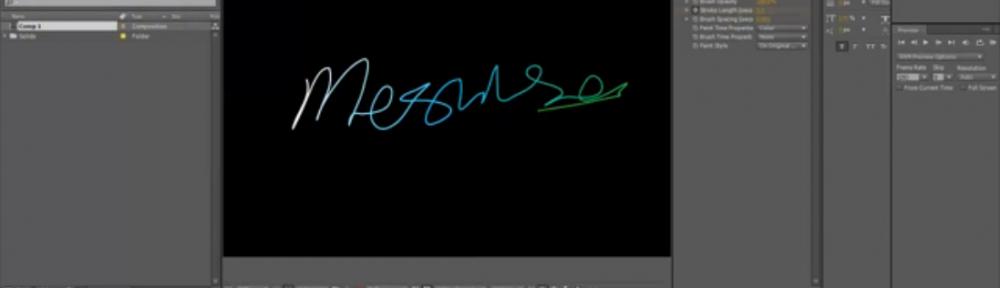 MESISE.COM – สร้างเส้นวิ่งสวย ๆ ด้วย Write-on ใน AFTER EFFECT