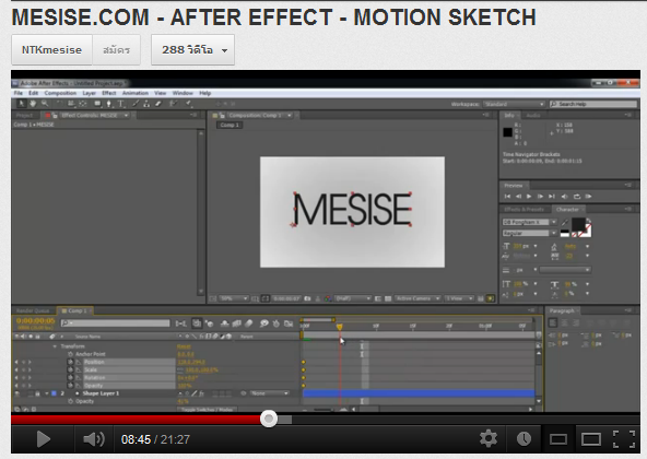 MESISE.COM – AFTER EFFECT – MOTION SKETCH