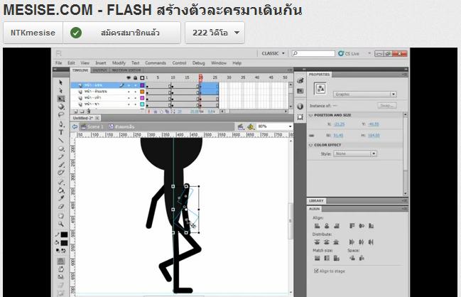 MESISE.COM – สอน FLASH สร้างตัวละครมาเดินกัน