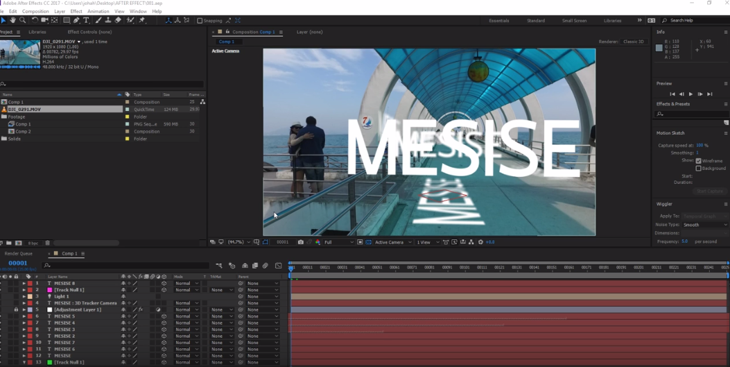 MESISE : สอนการใช้ 3D Camera Tracker