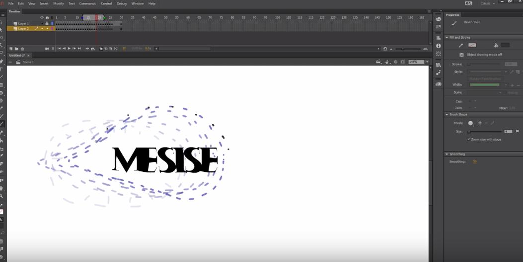 MESISE : สอน ADOBE ANIMATE CC 2017 เฟรม ต่อ เฟรม