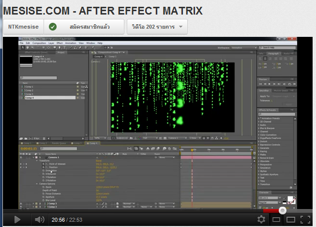 MESISE.COM – AFTER EFFECT MATRIX