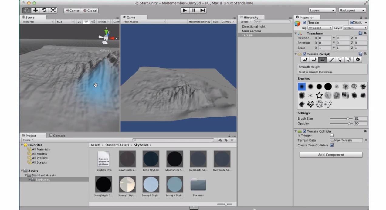 MESISE.COM – สอน Unity 3D – skybox terrain