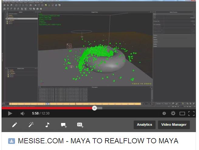 MESISE.COM – MAYA TO REALFLOW TO MAYA
