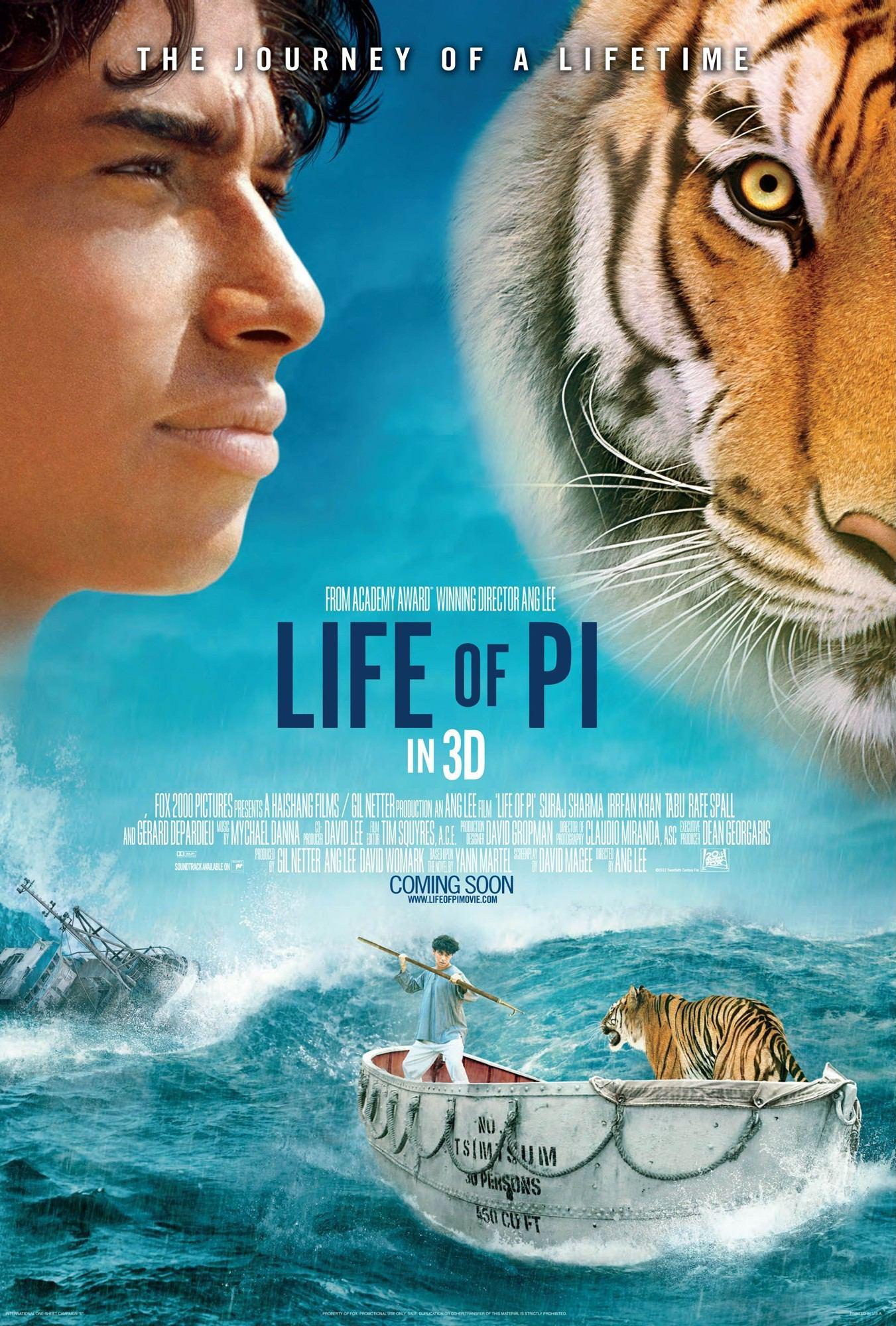พูดถึงหนังเรื่อง LIFE OF PI (ชีวิตบักหำพาย)